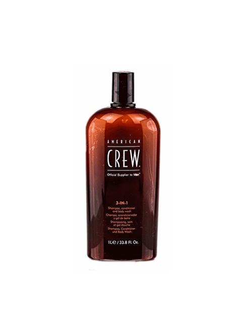 American Crew Klasik 3'Ü 1 Arada Saç Ve Vücut Şampuanı 1000 Ml Renksiz